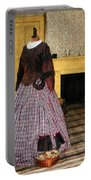 19th Century Plaid Dress Portable Battery Charger