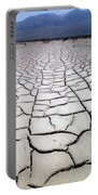 1a6832 Mud Cracks In Death Valley Portable Battery Charger