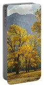 1m6611-oak Trees And Middle Cathedral Rock In Autumn Portable Battery Charger
