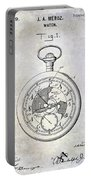 1916 Pocket Watch Patent Blueprint Portable Battery Charger