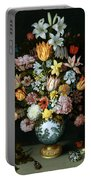 A Still Life Of Flowers Portable Battery Charger