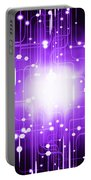 Abstract Circuit Board Lighting Effect  Portable Battery Charger