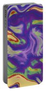 Abstract Fractal Background Portable Battery Charger