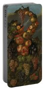 Anthropomorphic Allegory Of Autumn Portable Battery Charger