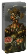 Anthropomorphic Allegory Of Summer Portable Battery Charger