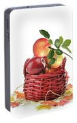Apples In A Basket  Portable Battery Charger
