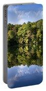 Autumn Sunrise Reflection Landscape Portable Battery Charger