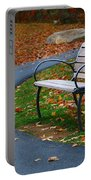 Bench On The Walk Portable Battery Charger by Rick Morgan