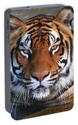 Bengal Tiger Laying In Water Portable Battery Charger