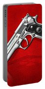 Beretta 92fs Inox Over Red Leather  Portable Battery Charger
