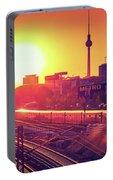 Berlin - Sunset Skyline Portable Battery Charger