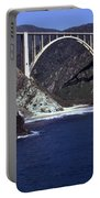 Bixby Creek Aka Rainbow Bridge Bridge Big Sur Photo  Portable Battery Charger