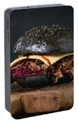Black Burger With Stews Portable Battery Charger