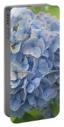 Blue Hydrangea At Rainy Garden In June, Japan Portable Battery Charger
