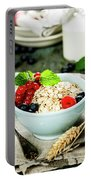 Breakfast With Oats And Berries Portable Battery Charger