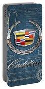 Cadillac 3 D Badge Over Cadillac Escalade Blueprint  Portable Battery Charger