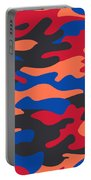 Camouflage Pattern Background Seamless Clothing Print, Repeatabl Portable Battery Charger