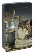 Cat Portrait Portable Battery Charger