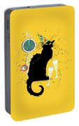 Chat Noir New Years Party Countdown Portable Battery Charger