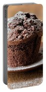 Chocolate Muffin With Powdered Sugar Portable Battery Charger