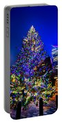 Christmas Tree Near Panther Stadium In Charlotte North Carolina Portable Battery Charger