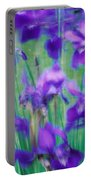 Close-up Of Purple Flowers Portable Battery Charger