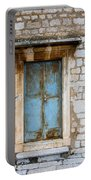 Closed Door Of An Old Chapel In Croatia Portable Battery Charger