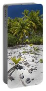 Coconut Palms On A Polynesian Beach Portable Battery Charger