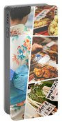 Collage Of Japan Food Images Portable Battery Charger