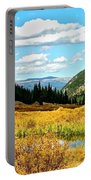 Colorado Mountain Lake In Fall Portable Battery Charger