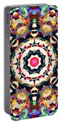 Colorful Concentric Abstract Portable Battery Charger