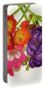 Colorful Freesia Portable Battery Charger