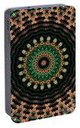 Colorful Kaleidoscope Incorporating Aspects Of Asian Architectur Portable Battery Charger