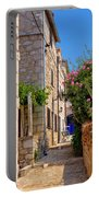 Colorful Mediterranean Stone Street Of Prvic Island Portable Battery Charger