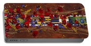 Colourful Abstract Painting Portable Battery Charger