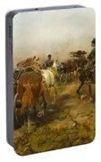 Cossacks Returning Home On Horseback Portable Battery Charger