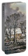 Currier & Ives: Winter Scene Portable Battery Charger