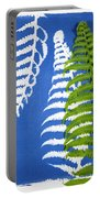 Cyanotype Print, Fern Portable Battery Charger