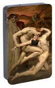 Dante And Virgil In Hell  Portable Battery Charger
