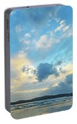 Dawn Seascape With Cloudy Sky Portable Battery Charger