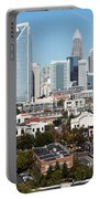 Downtown Charlotte North Carolina From The South End Portable Battery Charger