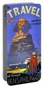 Egypt Vintage Travel Poster Restored Portable Battery Charger