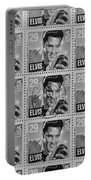 Elvis Commemorative Stamp January 8th 1993 Painted Bw Portable Battery Charger