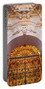 Entrance Of The Syracuse Baroque Cathedral In Sicily - Italy Portable Battery Charger