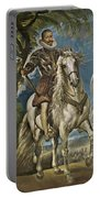 Equestrian Portrait Of The Duke Of Lerma Portable Battery Charger