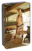 Everglades Cowgirl Portable Battery Charger