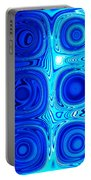 2 Faces Of Blue Portable Battery Charger