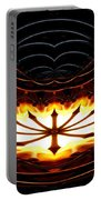 Fire Polar Coordinates Effect Portable Battery Charger