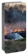 Fires Sunset Landscape Portable Battery Charger