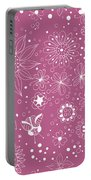 Floral Doodles Portable Battery Charger